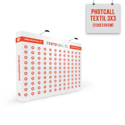 Photocall textil 3x3 modulos