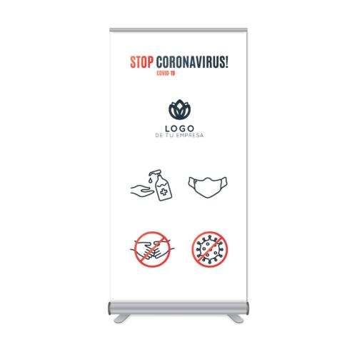Rollup 100x205cm Stop Coronavirus