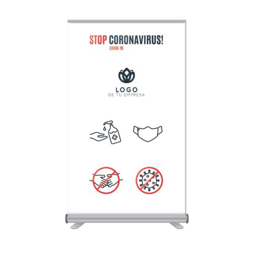 Rollup 120x205cm Stop Coronavirus