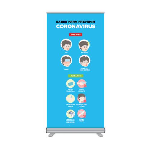 Rollup 100x205cm Prevención Coronavirus