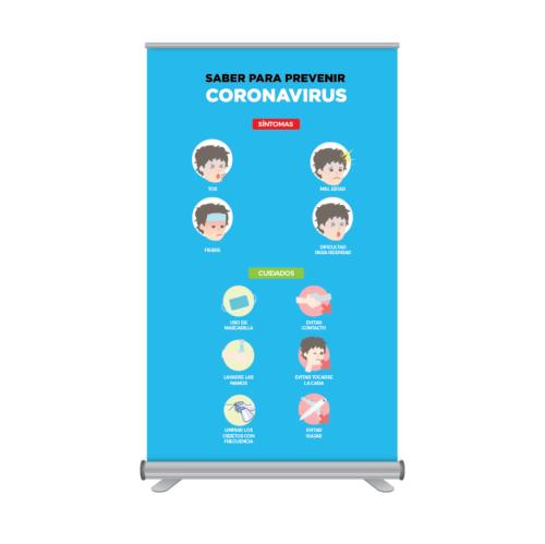 Rollup 120x205cm Prevención Coronavirus