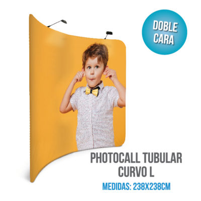 Photocall tubular curvo L