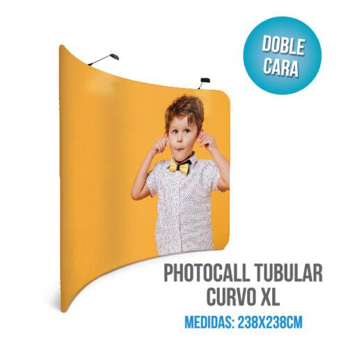 Photocall tubular curvo XL